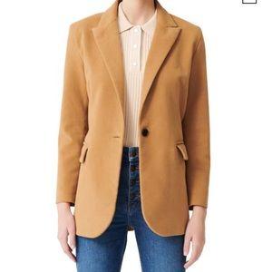 Maje camel blazer size 40 (US 8)